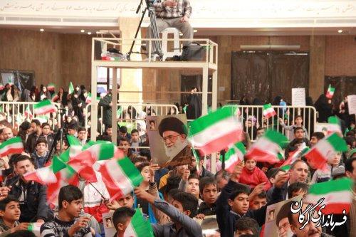 مراسم ۱۲بهمن سالروز پیروزی انقلاب شکوهمند اسلامی ایران در مصلی وحدت گرگان