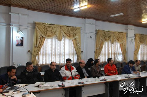 جلسه مدیریت بحران شهرستان گرگان به ریاست فرماندار گرگان برگزار شد