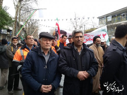 راهپیمایی باشکوه 22بهمن در چهلمین سالگرد پیروزی انقلاب اسلامی در گرگان