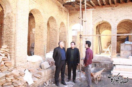 فرماندار گرگان بصورت سرزده از مراحل مرمت بافت تاریخی شهر گرگان بازدید کرد
