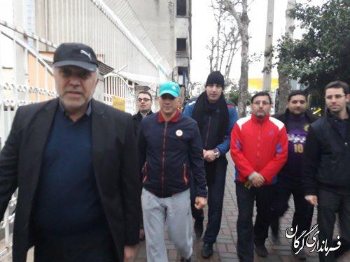 سه شنبه های بدون خودرو با حضور فرماندار و رییس و کارکنان سازمان حمل و نقل شهرداری گرگان
