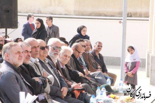 آیین افتتاح مدرسه خیّرساز بنیاد علمی آموزشی قلم چی در گرگان برگزار شد