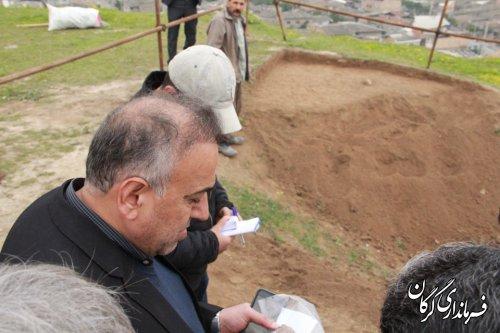 بازدید فرماندار شهرستان گرگان از تپه های تاریخی قلعه خندان و تورنگ تپه