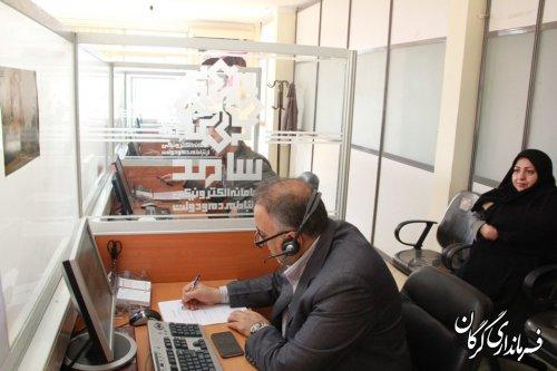 حضور فرماندار شهرستان گرگان در مرکز سامد بمنظور پاسخگویی به شهروندان