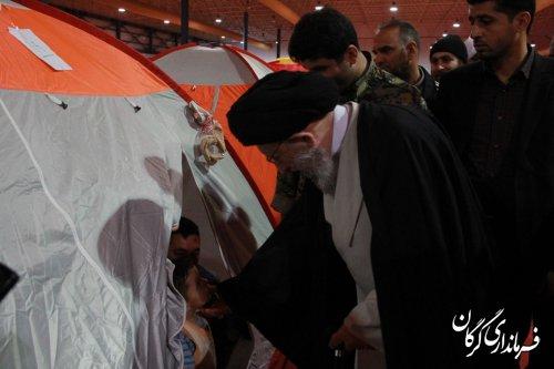 حضور نماینده ولی فقیه در استان و امام جمعه گرگان در ستاد اسکان سیلزدگان