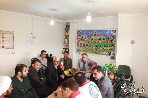 جلسه ستاد مدیریت بحران در محل اسکان سیلزگان واقع در روستای محمدآباد برگزار شد