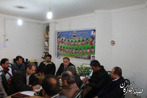 حضور مستمر فرماندار شهرستان گرگان در محل ستاد اسکان سیلزدگان