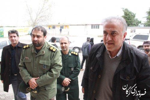 بازدید فرماندار شهرستان گرگان از محل های ستاد اسکان سیلزدگان