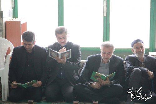 """مراسم سومین روز درگذشت """"احمد عبدالحسینی""""شهید راه خدمت،در روستای سلطان آباد برگزار شد"""