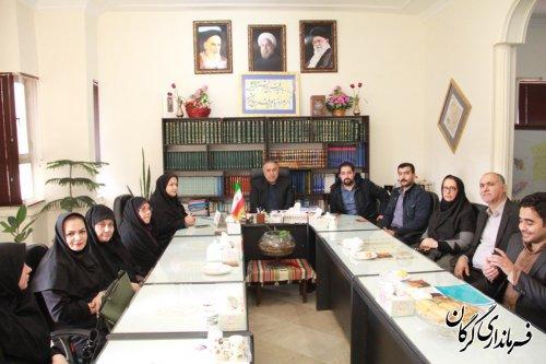 دیدار مدیران شهرستان گرگان با فرماندار به مناسبت سال نو