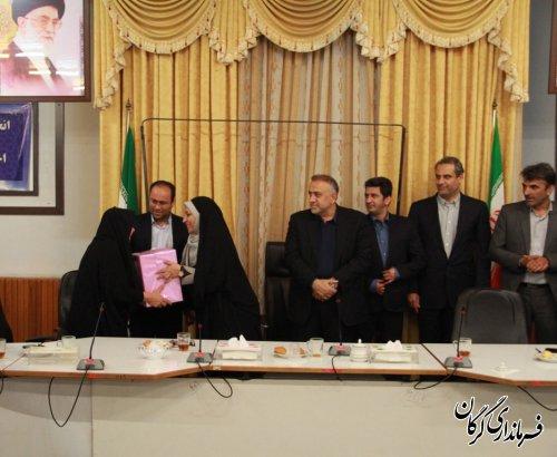 مراسم تقدیر از جانبازان همکار در فرمانداری شهرستان گرگان برگزار شد