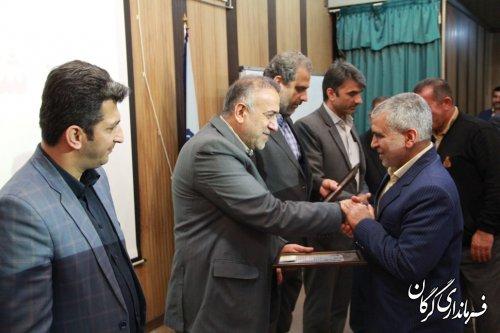 مراسم روز شوراها و تجلیل از شوراهای برتر بخش مرکزی گرگان برگزار شد
