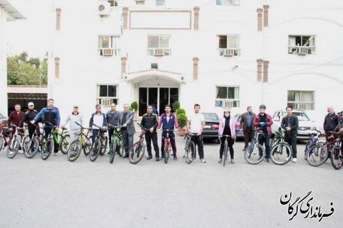 همایش دوچرخه سواری و پیاده روی سفیران سلامت در گرگان برگزار شد