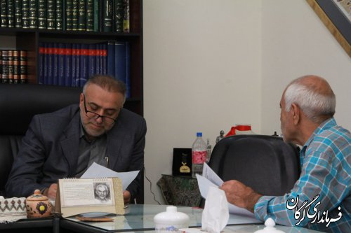 فرماندار شهرستان گرگان بصورت چهره به چهره با مردم دیدار و گفتگو کرد