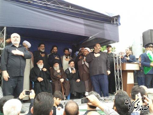 مراسم دسته روی سالروز شهادت حضرت علی(ع) در گرگان برگزار شد