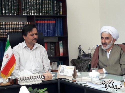 دیدار مدیران کل و رؤسای ادارات شهرستان با فرماندار شهرستان گرگان