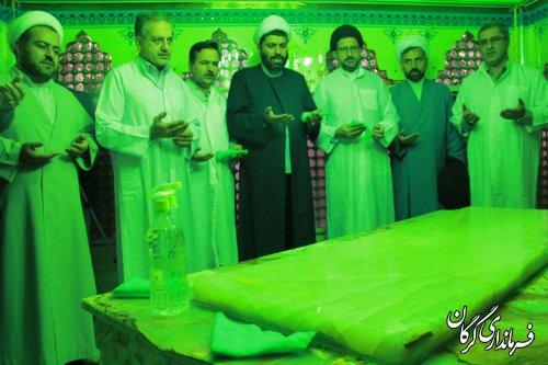 آیین غبار روبی و عطرافشانی گلزار شهدا در شهر گرگان برگزار شد