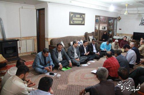 جلسه پیگیری مشکلات روستای گلندفخرآباد و تاریکی در محل روستا برگزار شد