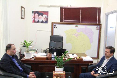 مدیر کل ثبت اسناد استان گلستان با فرماندار شهرستان گرگان دیدار کرد