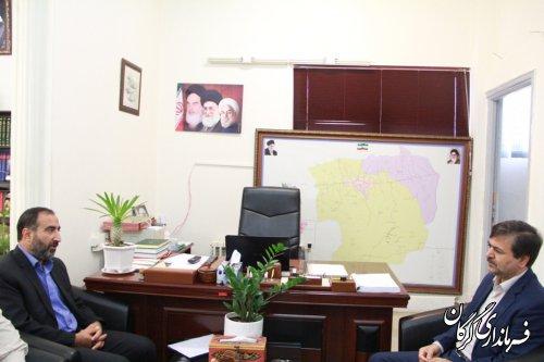 مدیر کل حفظ آثار و نشر ارزشهای دفاع مقدس با فرماندار شهرستان گرگان دیدار کرد