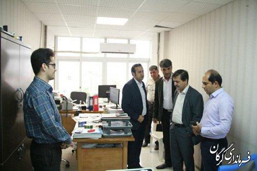 بازدید سرزده فرماندار شهرستان گرگان از شرکت تعاونی دهیاران بخش مرکزی گرگان
