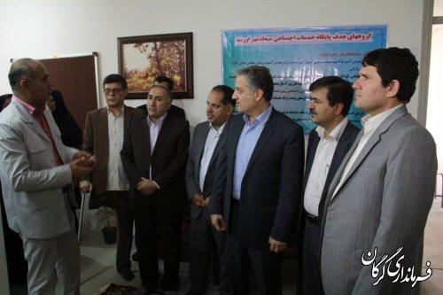 اولین پایگاه خدمات اجتماعی در کوی اوزینه گرگان  افتتاح شد