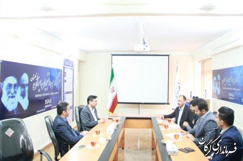   به مناسبت روز خبرنگار فرماندار گرگان از خبرگزاری ایسنا بازدید کرد