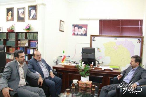 مدیر کل بنیاد مسکن انقلاب اسلامی استان با فرماندار گرگان دیدار کرد