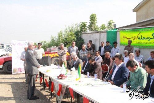 طرح تجهیز و نوسازی اراضی شالیزاری روستای آهنگرمحله از توابع بخش مرکزی گرگان افتتاح و به بهره برداری رسید