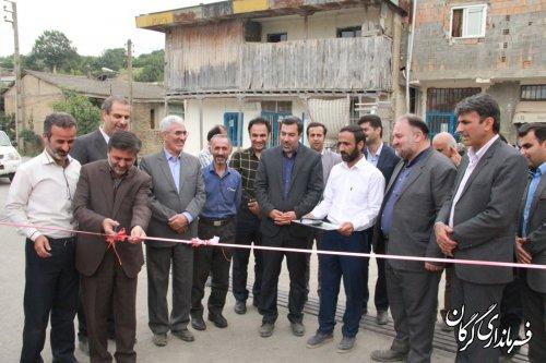 افتتاح و بهره برداری از 5طرح هادی روستایی در شهرستان گرگان
