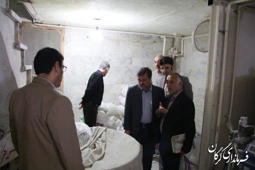 فرماندار گرگان بصورت سرزده از نانوایی های شهر گرگان بازدید کرد