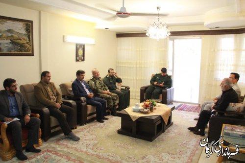 دیدار فرماندار گرگان با جانبازان سرافراز شهرستان بمناسبت هفته دفاع مقدس