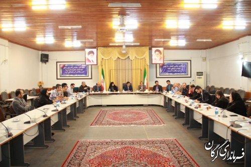 جلسه هم اندیشی شهر خلاق درفرمانداری گرگان برگزار شد