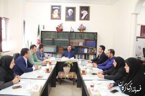 برگزاری نشست کارکنان حوزه سیاسی امنیتی و اجتماعی با فرماندار گرگان