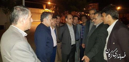 بازدید شبانه استاندار گلستان از اردوگاه مراقبتی اتباع خارجی در گرگان