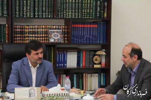 مدیر عامل شرکت گاز استان با فرماندار گرگان دیدار کرد