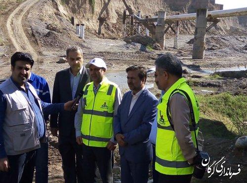 بازدید فرماندارشهرستان گرگان از محل ترمیم خط انتقال گاز به شهرستان