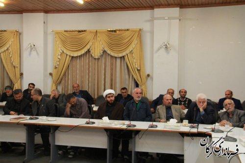 نشست مداحان و ذاکرین اهل بیت(ع) با فرماندار شهرستان گرگان برگزار شد