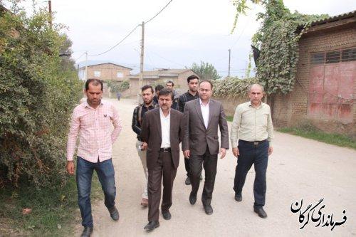 بازدید فرماندار گرگان از چند طرح هادی در حال اجرا در بخش بهاران