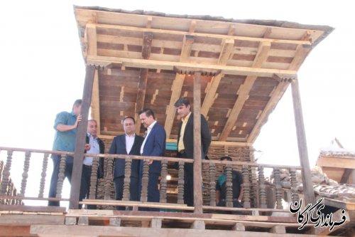 بازدید فرماندار شهرستان گرگان از روند برپایی جشنواره اقوام ایران زمین در نمایشگاه بین المللی گرگان