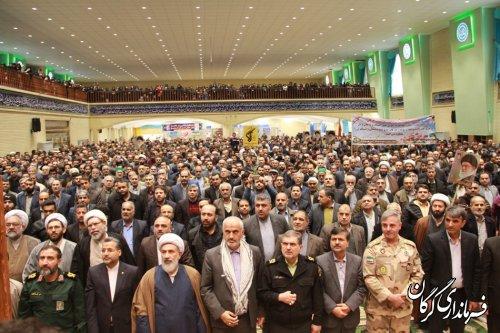 تجمع لبیک به رهبرمعظم انقلاب اسلامی در حمایت ازاقتدار و امنیت کشور در گرگان برگزار شد