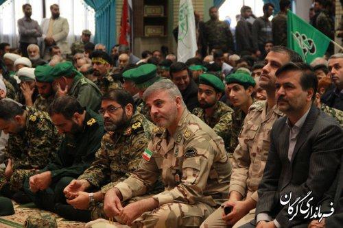 همایش اقتدار و شکوه مقاومت در حسینیه ثارالله گرگان برگزار شد