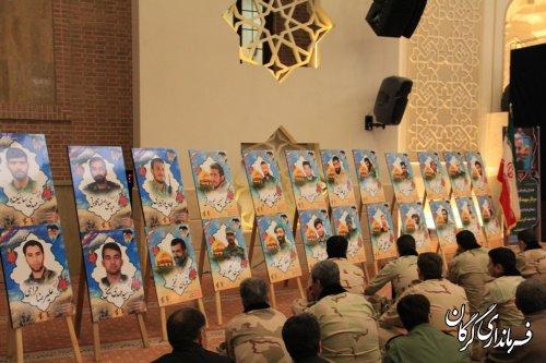 مراسم یادبود سید الشهدا جبهه مقاومت سردار شهید سپهبد «حاج قاسم سلیمانی» در مصلی وحدت گرگان برگزار شد