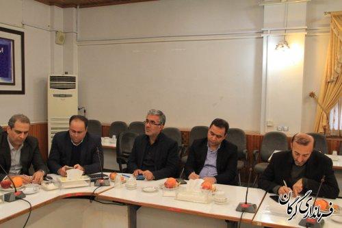 جلسه مشترک اعضای ستاد انتخابات استان با اعضای دبیرخانه اجرایی انتخابات گرگان برگزار شد