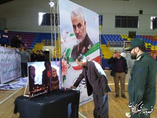 حضور فرماندار گرگان در سالن ورزشی امام خمینی(ره) و دیدار از مسابقات کبدی کشور