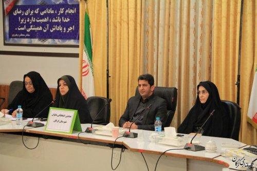 نشست هم اندیشی بانوان فرهنگی و حضور پرشور در انتخابات در گرگان برگزار شد