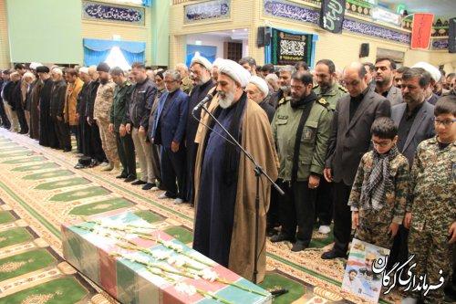 مراسم روز شهادت حضرت زهرا(س) و تشییع شهید گمنام در گرگان برگزار شد