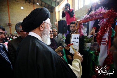مراسم نمادین استانی زنگ گلبانگ انقلاب اسلامی در گرگان برگزار شد