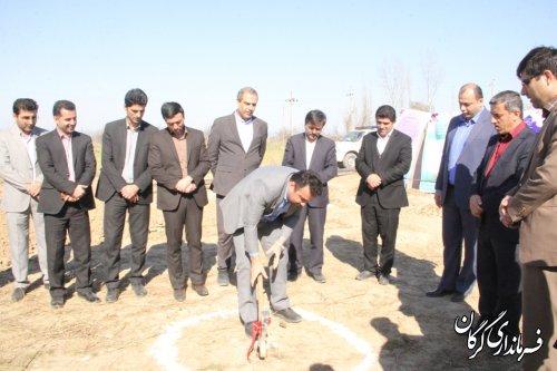 آیین کلنگ زنی هتل دو ستاره در شهرستان گرگان برگزار شد