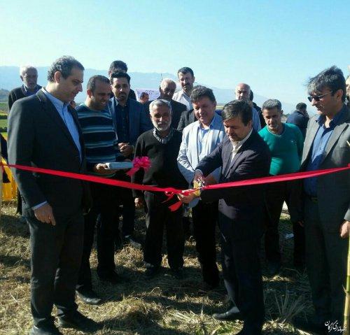 طرح تجهیز و نوسازی اراضی نسق شالیزاری روستای کلو در سطح اراضی 27 هکتار به بهره برداری رسید